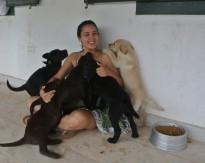 Eu e os filhotes